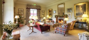 Roaring fires are throughout the public rooms at the Roxburghe