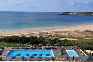 Hotel Martinhal view onto Martinhal beach